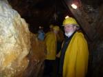 Abb. 5: Herr Dr. Fieber in der Grube Glasebach (Foto: M. Brennecke).