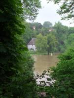Abb.3: Der Ilmpark und Goethes Gartenhaus (Foto: M. Klamm).
